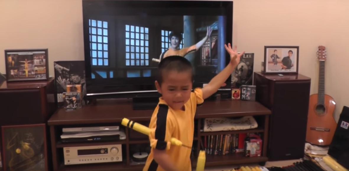 Шестирічний японський каратист повторив усі рухи  Брюса Лі у фільмі «Гра смерті» (відео)