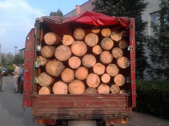 На Волині затримали вантажівку, яка перевозила лісодеревину без документів