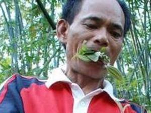 Уже два роки китаєць їсть лише листя і траву
