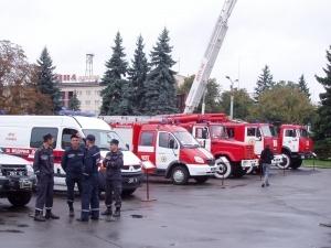 У центрі Луцька відбулася виставка пожежної техніки