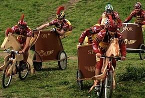 У Римі пройшли перегони на велоколісницях