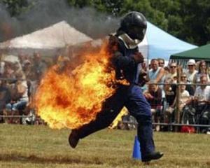 Шотландець встановив рекорд із бігу підпаленим