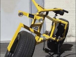 Винайшли велосипед з колесами від автомобіля