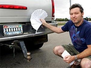Через автомобільний номер XXXXXXX водій отримує штрафи за всі непізнані автівки
